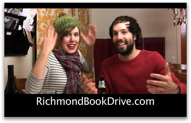 Pomplamoose, Nataly Dawn and Jack Conte's, indie pop-rock duo, represents a new breed of musician that communicates with fans directly on the Web. After Pomplamoose alerted its 200,000-plus YouTube subscribers that it will give a free downloadable holiday album to anyone who donates a book to the Richmond Book Drive, books started flooding in.   Ran on: 12-13-2010 Nataly Dawn and Jack Conte, the musicians who make up Pomplamoose, exchanged their album for books. Photo: Courtesy Pomplamoose