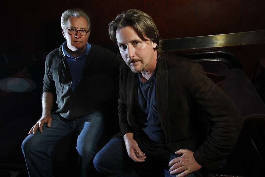 "Emilio Estevez directed his father Martin Sheen in the drama ""The Way,"" about a father who loses his grown son and goes on a walking pilgrimage in Spain.  They are photographed at Tosca Cafe in San Francisco, Calif., Sunday, August 28, 2011. Photo: Sarah Rice, Special To The Chronicle"