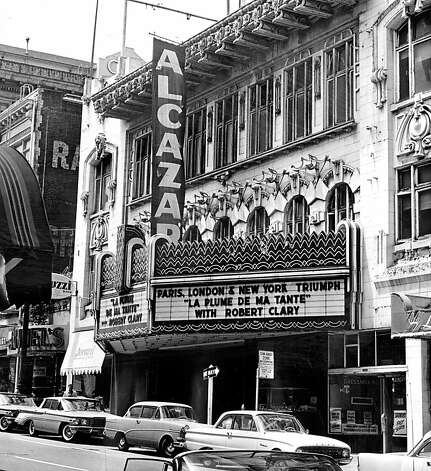 The Alcazar Theatre on O'Farrell St, before it was demolished. July 13, 1961. Photo: Barney Peterson, The Chronicle