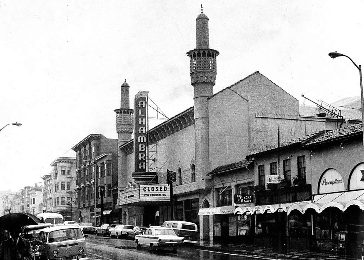 The alhambra Theater on Polk Street, which is now a gym. April 1, 1974.