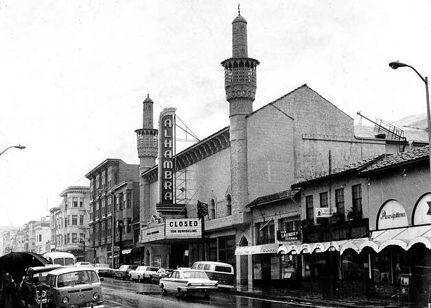 The alhambra Theater on Polk Street, which is now a gym. April 1, 1974. Photo: Clem Albers, The Chronicle