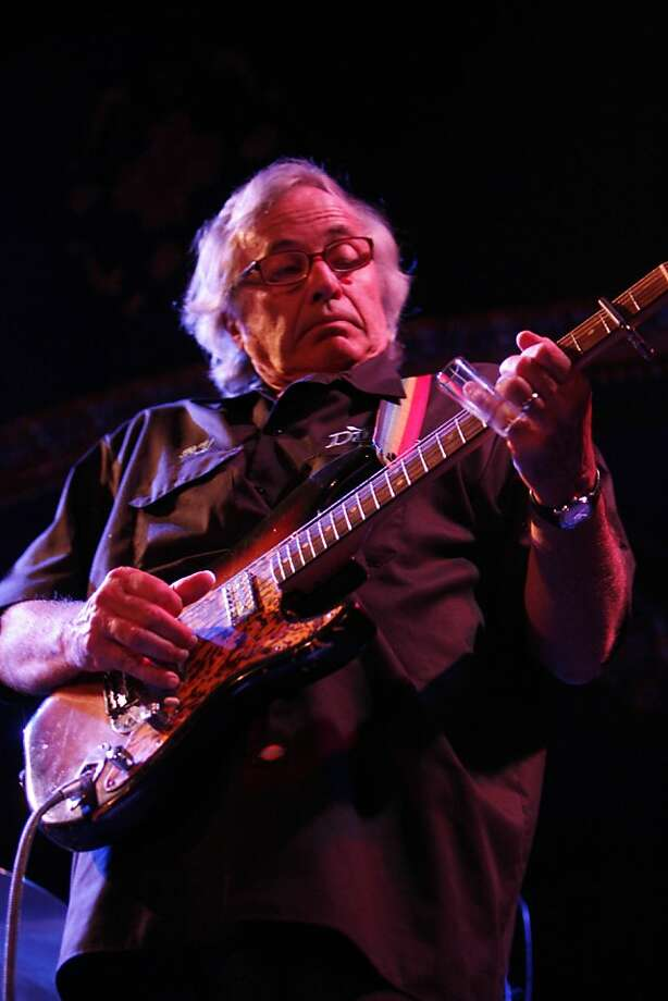 Guitarist Ry Cooder performs at the Great American Music Hall at the second annual benefit for the Richard de Lone Special Housing Project on Thursday, October 2, 2008 in San Francisco, Calif. Photo: Lea Suzuki, The Chronicle