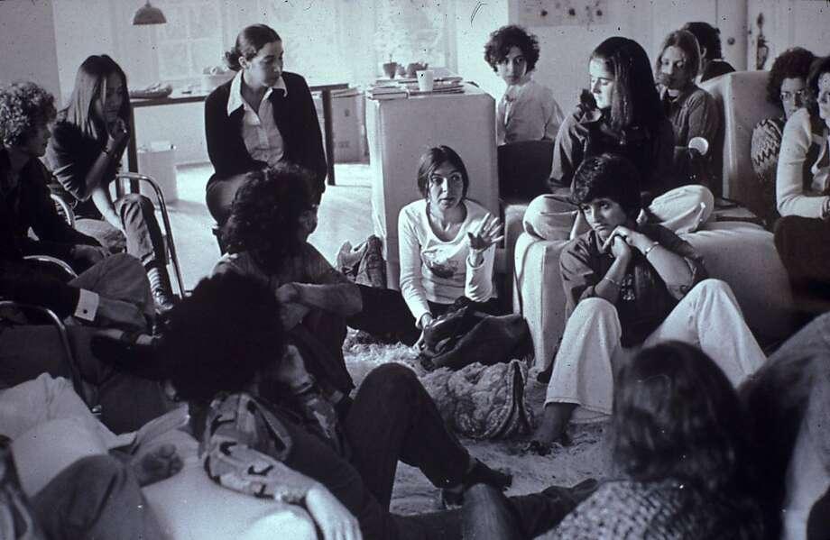 Feminist Studio Workshop in 1973, as seen in !WOMEN ART REVOLUTION, a film by Lynn Hershman Leeson. Photo: Sheila Levrant De Bretteville Ar