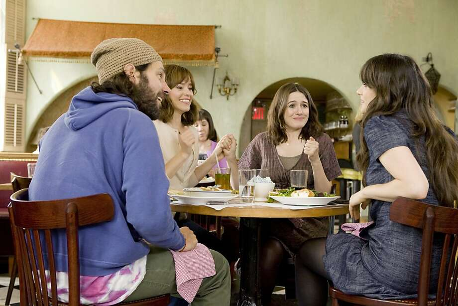 """Paul Rudd as Ned, Elizabeth Banks as Miranda, Emily Mortimer as Liz and Zooey Deschanel as Natalie in Jesse Peretz's film  """"Our Idiot Brother."""" (L-R) PAUL RUDD, ELIZABETH BANKS, EMILY MORTIMER and ZOOEY DESCHANEL star in OUR IDIOT BROTHER Photo by: Craig Blankenhorn ©2011 The Weinstein Company. All Rights Reserved. Photo: Nicole Rivelli, Weinstein Co."""