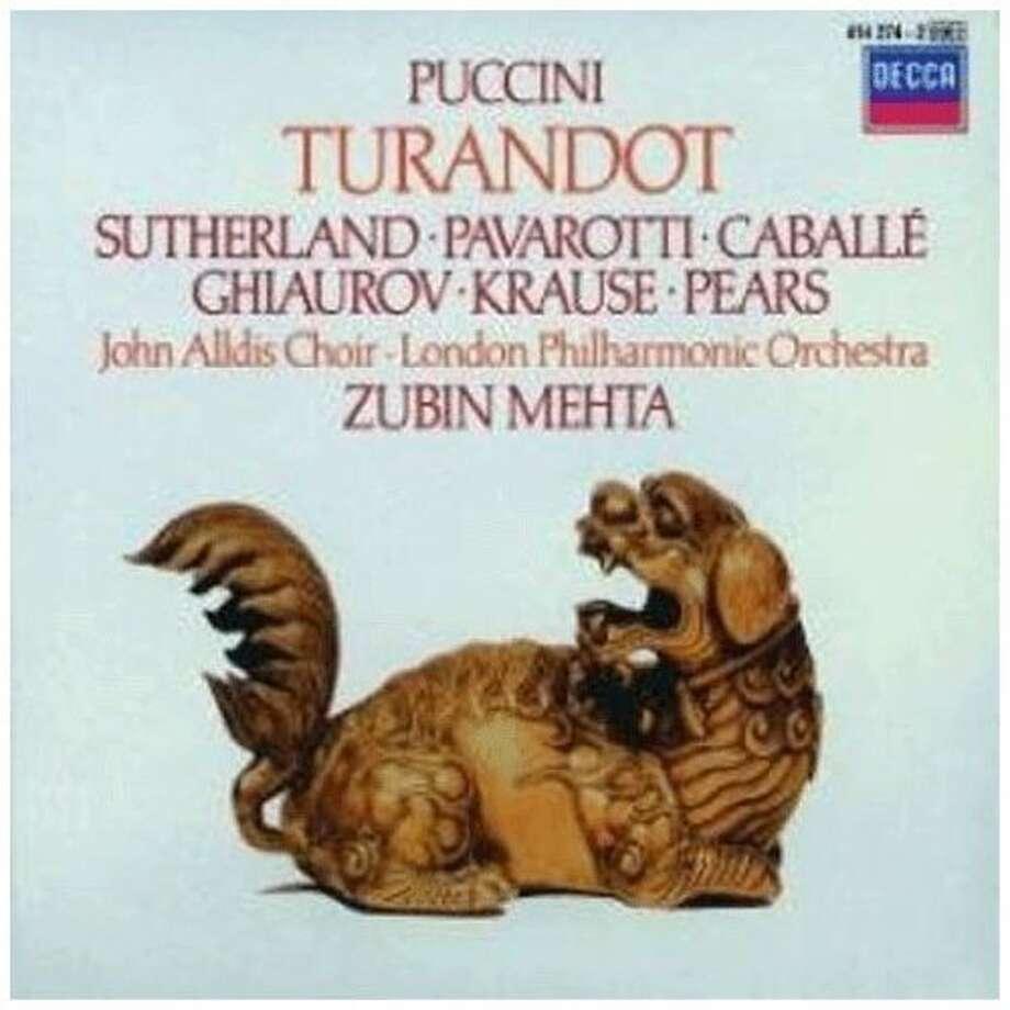 """DVD cover of Puccini's """"Turandot"""" Photo: Decca"""
