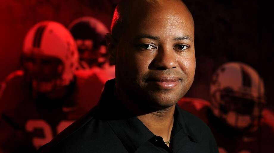 David Shaw, head coach of Stanford football, poses at his team's athletic offices on Wednesday, July 20, 2011, in Stanford, Calf. Photo: Noah Berger, Special To The Chronicle