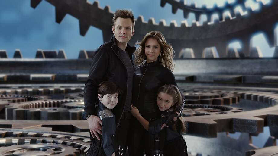 "Joel McHale, Jessica Alba, Mason Cook and Rowan Blanchard in ""Spy Kids: All the Time in the World in 4D""   Photo by:  Dimension Films Photo: Dimension Films"