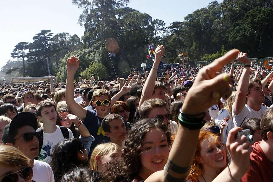 Fans scream as STRFKR begins their performance at the 2011 Outside Lands Music Festival in Golden Gate Park in San Francisco Calif.,  on August 13, 2011. Photo: Audrey Whitmeyer-Weathers, The Chronicle