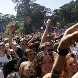 Fans scream as STRFKR begins their performance at the 2011 Outside Lands Music Festival in Golden Gate Park in San Francisco Calif.,  on August 13, 2011.