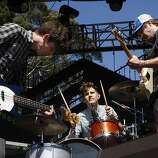 Members of STRFKR rock out during their performance in Golden Gate Park for the 2011 Outside Lands Music Festival in San Francisco Calif.,  on August 13, 2011.