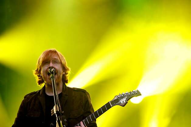Phish lead singer Trey Anastasio performs at Outside Lands Music and Art Festival in Golden Gate Park in San Francisco, Calif., August 12, 2011. Photo: Sarah Rice, Special To The Chronicle