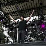 Lead singer Mark Foster performs with Foster the People at Outside Lands Music and Art Festival in Golden Gate Park in San Francisco, Calif., August 12, 2011.