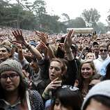 Crowds dance and sing along to Foster the People at Outside Lands Music and Art Festival in Golden Gate Park in San Francisco, Calif., August 12, 2011.