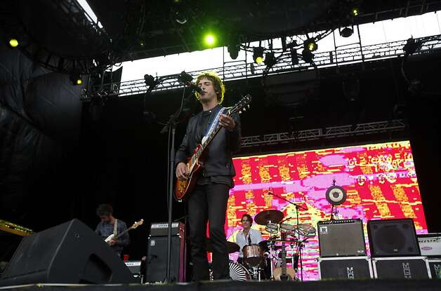 Lead singer Andrew VanWyngarden performs with MGMT at Outside Lands Music and Art Festival in Golden Gate Park in San Francisco, Calif., August 12, 2011. Photo: Sarah Rice, Special To The Chronicle