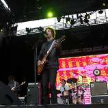Lead singer Andrew VanWyngarden performs with MGMT at Outside Lands Music and Art Festival in Golden Gate Park in San Francisco, Calif., August 12, 2011.