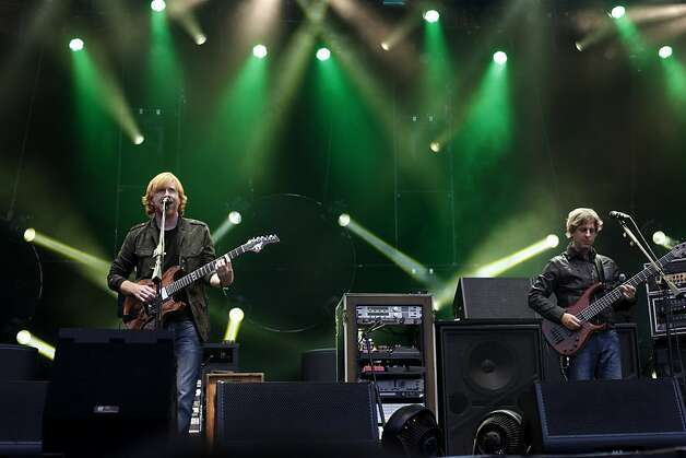 Phish performs at Outside Lands Music and Art Festival in Golden Gate Park in San Francisco on Friday. Photo: Sarah Rice, Special To The Chronicle