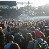 A packed crowd listens to the Black Keys perform on Saturday.