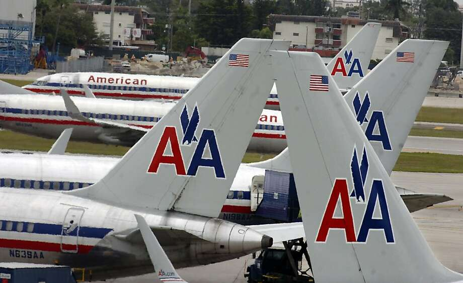 American Airlines jets are seen at Miami International Airport just hours after the airline filed for Chapter 11 Bankruptcy Protection, Tuesday, November 29, 2011. (Tim Chapman/Miami Herald/MCT) Photo: Tim Chapman, MCT