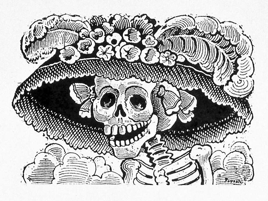 "Jose Guadalupe Posada's original 'La Calavera Catrina,' circa 1910. Jose Guadalupe Posada's original ""La Calavera Catrina,"" circa 1910. credit: Courtesy Mexican Museum Photo: Courtesy Mexican Museum"