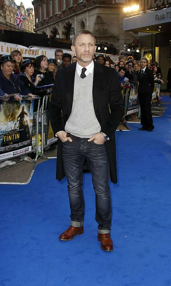 British actor Daniel Craig arrives for the BFI London Film Festival UK film premiere of 'The Adventures of Tintin: Secret of the Unicorn', at a central London Cinema, Sunday, Oct. 23, 2011. (AP Photo/Joel Ryan) Photo: Joel Ryan, AP