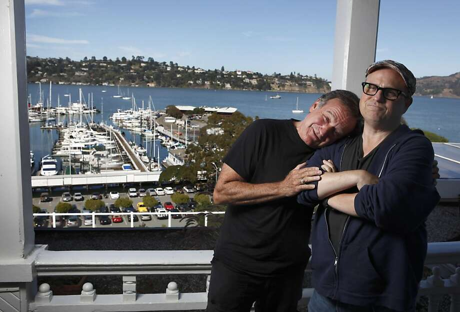 "Robin williams and Bobcat Goldthwait for a feature on their new movie ""World's Greatest Dad."" Ran on: 08-23-2009 Photo caption Dummy text goes here. Dummy text goes here. Dummy text goes here. Dummy text goes here. Dummy text goes here. Dummy text goes here. Dummy text goes here. Dummy text goes here.###Photo: WILLIAMS23_PHx1250035200The Chronicle###Live Caption:Robin williams and Bob Goldwaithe for a feature on their new movie The World's Greatest Dad.###Caption History:Robin williams and Bob Goldwaithe for a feature on their new movie The World's Greatest Dad.###Notes:Notes, Contacts, Name CQ's here###Special Instructions:MANDATORY CREDIT FOR PHOTOG AND SF CHRONICLE-NO SALES-MAGS OUT Ran on: 08-23-2009 Robin Williams (left) and Bobcat Goldthwait worked together on &quo;World's Greatest Dad,&quo; in which a father copes with his son's unusual death. Photo: Carlos Avila Gonzalez, The Chronicle"