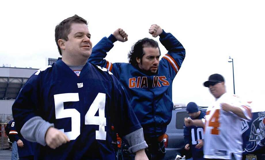 "Patton Oswalt stars in ""Big Fan.""    Ran on: 10-23-2009 Patton Oswalt (left) and Kevin Corrigan play New York Giants admirers who get in trouble with a star player in &quo;Big Fan.&quo; Photo: First Independent Picures"
