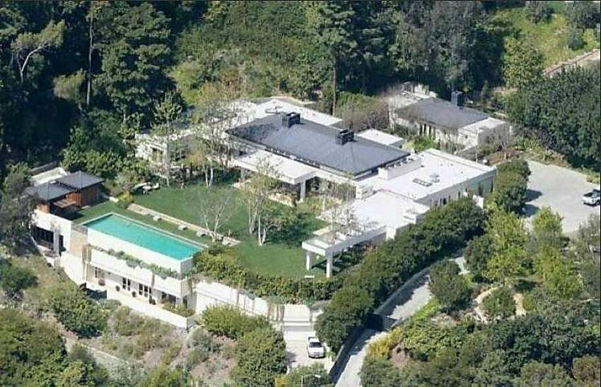 An aerial view of the property, providing a larger look at the compound.