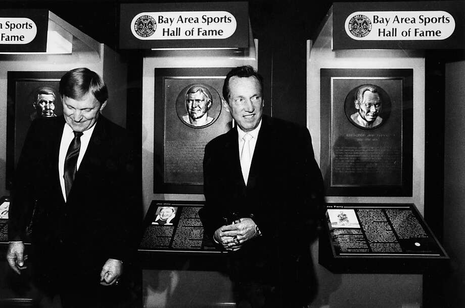 Jim Otto seemed truly touched by comments from Al Davis at the induction to the Hall of Fame. Photo: Eric Luse, San Francisco Chronicle