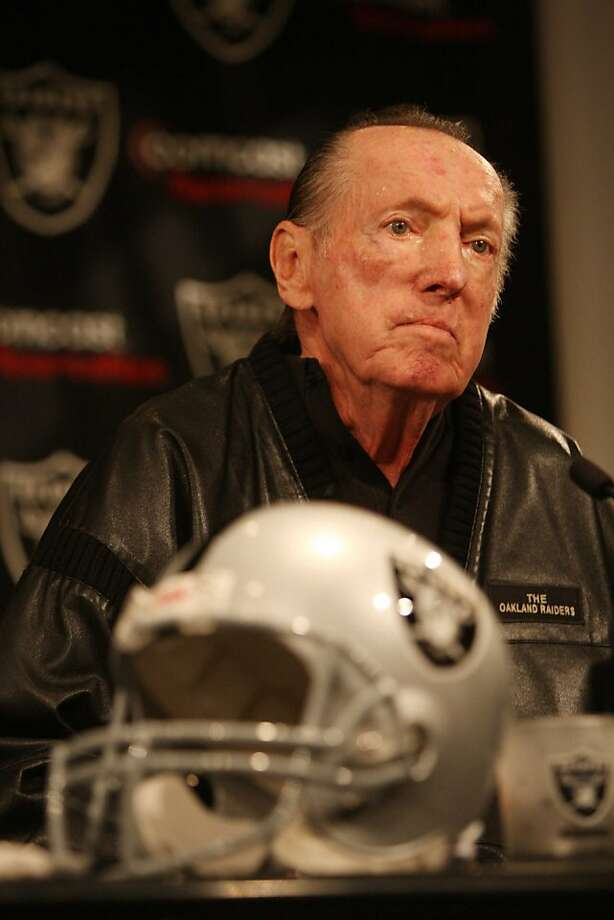 Tom Cable is announced as the New Raiders head coach by the team's owner Al Davis during a press conference at Raiders Headquarters on Wednesday Feb. 4, 2009 in Alameda, Calif.  Ran on: 03-01-2009 Davis Ran on: 03-01-2009 Davis  Ran on: 09-06-2009 Al Davis Ran on: 09-06-2009 Al Davis   Ran on: 09-20-2009 Al  Davis Ran on: 09-20-2009 Al  Davis  Ran on: 09-27-2009 Al Davis Ran on: 09-27-2009 Al Davis Ran on: 09-27-2009 Al Davis Ran on: 09-27-2009 Al Davis Ran on: 09-27-2009 Al Davis Ran on: 09-27-2009 Al Davis Ran on: 09-27-2009 Al Davis Ran on: 09-27-2009 Al Davis  Ran on: 11-08-2009 Al Davis Ran on: 11-08-2009 Al Davis Ran on: 11-08-2009 Al Davis  Ran on: 07-18-2010 Al Davis writes his own obituary.  Ran on: 01-18-2011 Al Davis has hired his sixth coach since 2002. Ran on: 01-18-2011 Al Davis has hired his sixth coach since 2002. Photo: Mike Kepka, The Chronicle