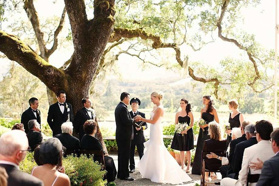 Scenes from the July wedding of Lauren