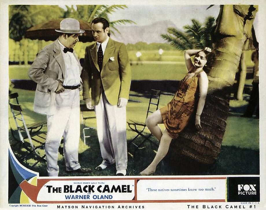 """The 1936 Charlie Chan thriller """"Black Camel,"""" which has the tag line """"These natives sometimes know too much,"""" was filmed at the Royal Hawaiian. Photo: Matson Navigation Co. Archives"""