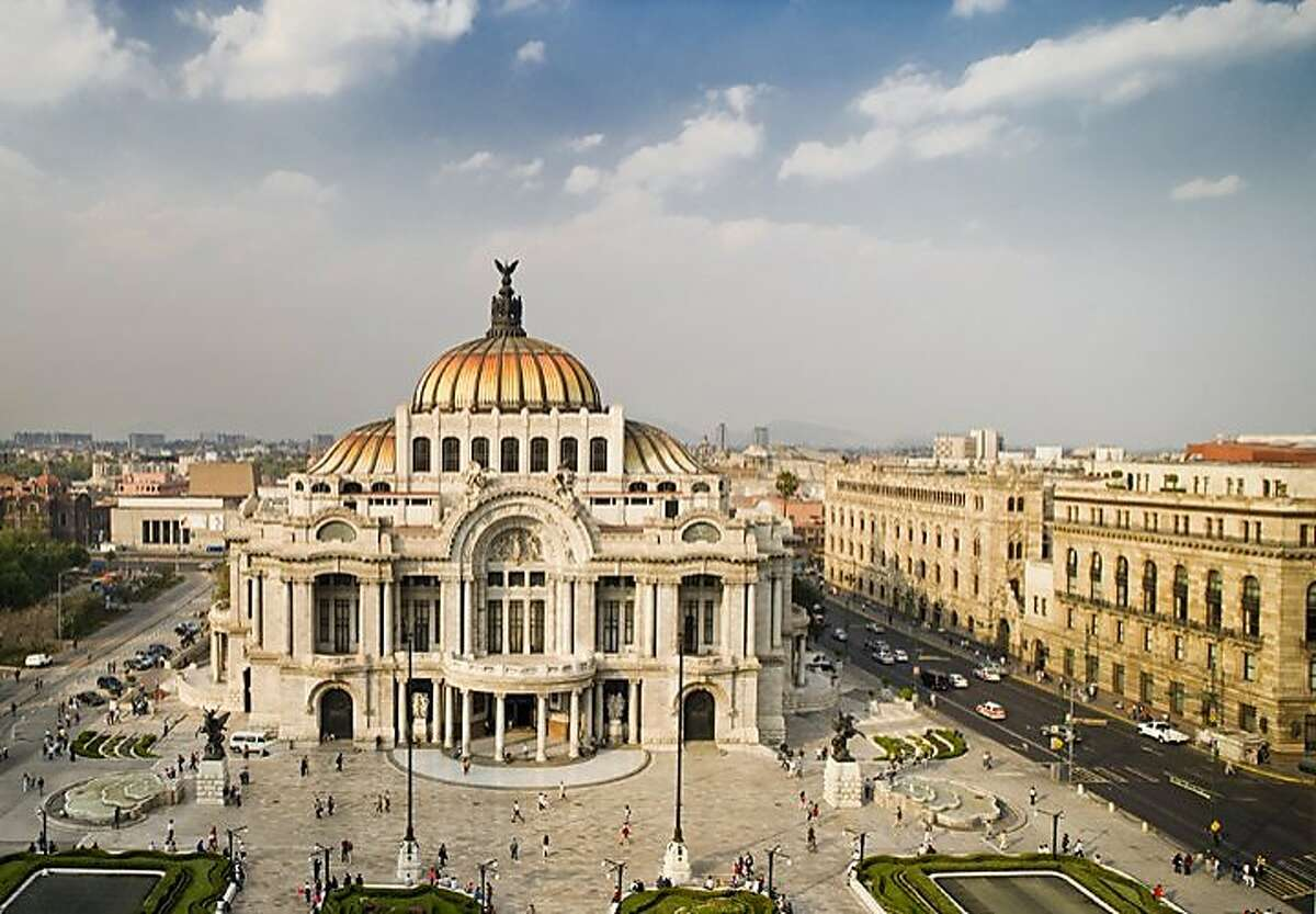 Mexico City -- The World Monuments Fund restored the early 20th century, Art Nouveau masterpiece, the Palacio de Bellas Artes, in the early 2000s. credit: Ricardo Espinosa / MTB