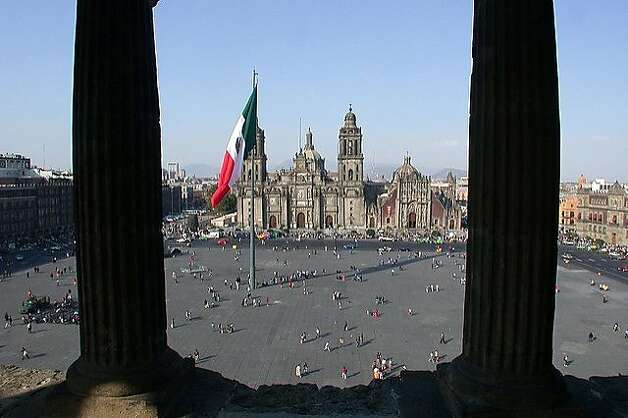 Mexico City -- The capital's historic center is the repository of seven centuries of architectural heritage. The zocalo, the largest square in Latin America and third largest in the world, lies on top of the 14th-century Aztec capital.  credit: mexicocityexperience.com Photo: Mexicocityexperience.com