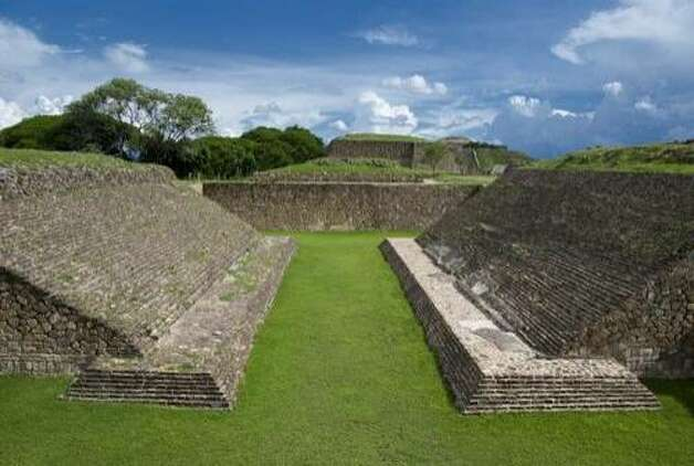 The Juego de Pelota or Ball Court, Monte Alban, Oaxaca, Mexico. Photo: James Harrison, Shutterstock
