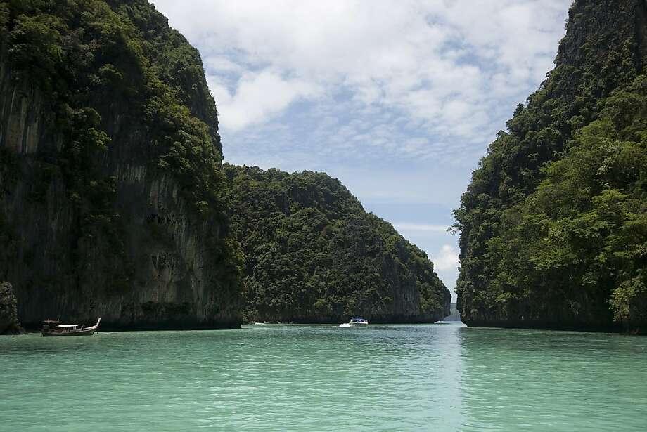 Boat tour in Koh Phi Phi. Pileh Lagoon. Photo: Lara Brucker, Special To SFGate