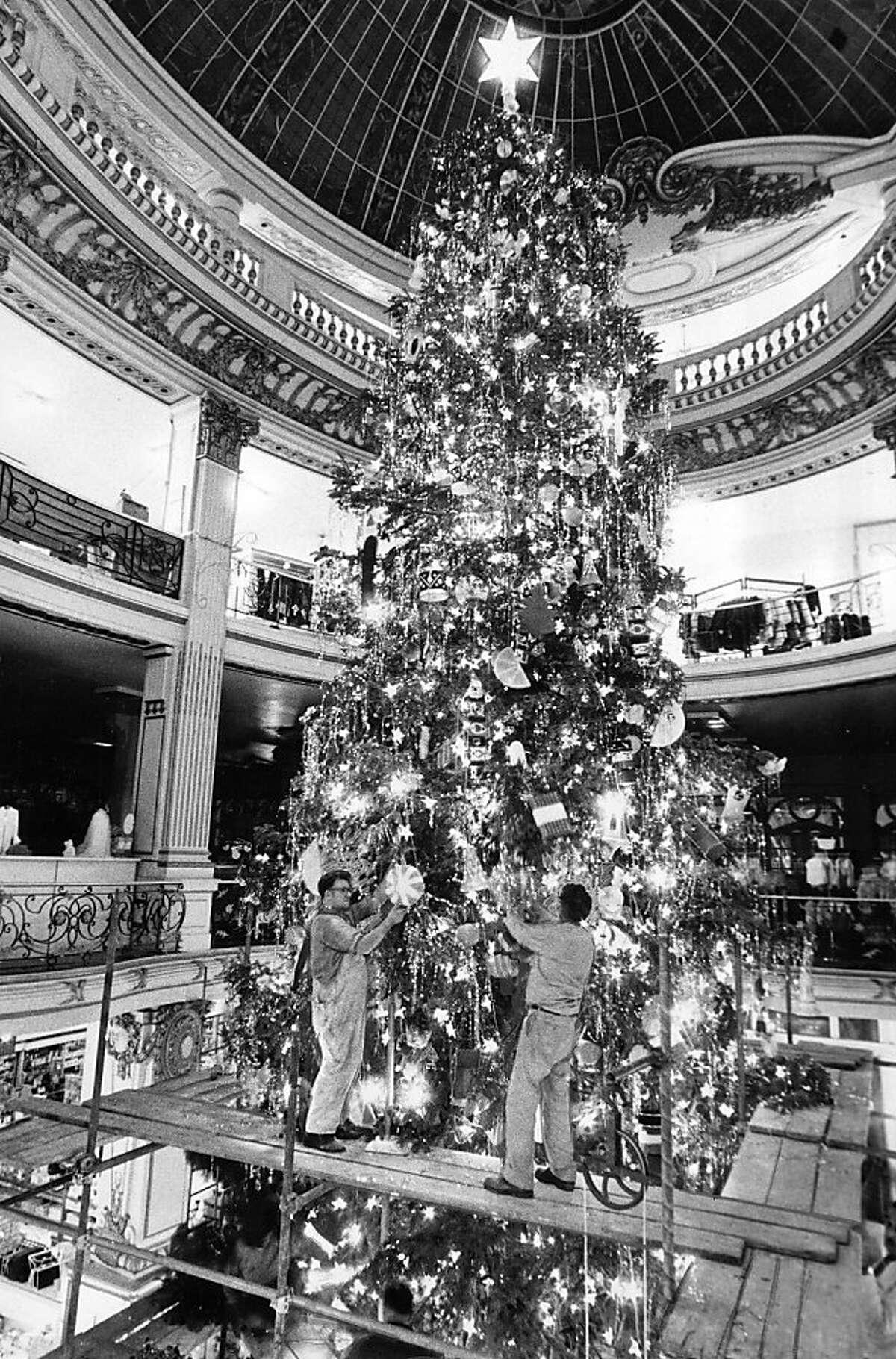 The City of Paris Christmas tree.