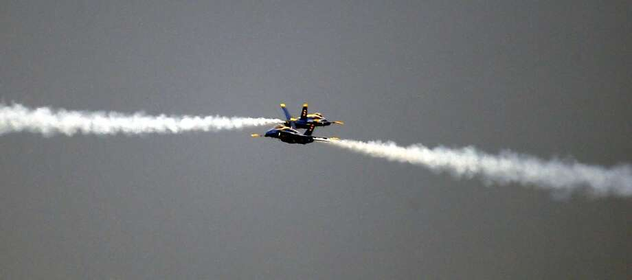 The Blue Angeles, the elite Naval aerial flying team practiced in front of San Francisco's Marina Green Thursday October 6, 2011 in preparation for this weekend's annual Fleet Week celebration. Photo: Lance Iversen, The Chronicle