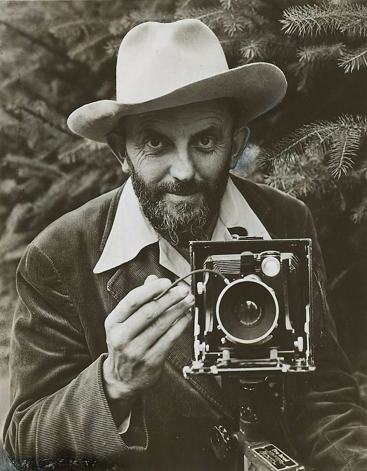 wayback19_PH.jpg 1948 - Ansel Adams in 1948. Houghton Mifflin Co. Chronicle File Ran on: 04-19-2009 Ansel Adams died in 1984. Ran on: 05-04-2009 Photographer Ansel Adams, shown in 1948, often used darkroom techniques to retune his images.