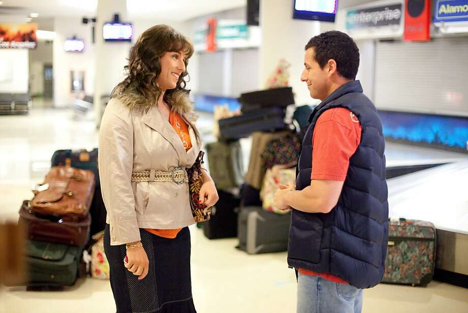 Jill and Jack (both, Adam Sandler) in Columbia Pictures' JACK AND JILL. Photo: Tracy Bennett, Columbia Pictures