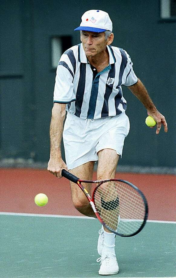 BROWN15A/C/10MAR00/SP/LS -- Tom Brown, champion 77-year-old tennis player, plays a match at the California Tennis Club. BY LEA SUZUKI/THE CHRONICLE  Ran on: 11-11-2011 Tom Brown was a two-time Wimbledon doubles champion. Photo: Lea Suzuki, The Chronicle