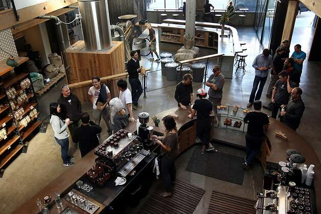 Patrons sip coffee inside Sightglass Coffee Bar and Roastery on Seventh Street in San Francisco, CA on November 1, 2011. Photo: Erin Lubin, Special To The Chronicle