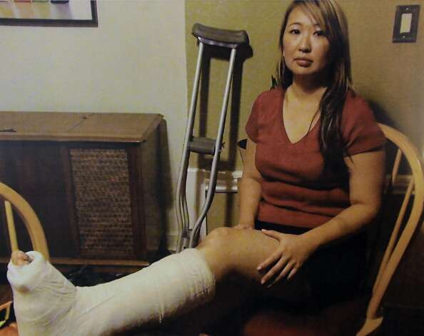 A photograph released by attorneys show Margaret So, who was injured after she was run down by an unidentified driver during a night of protests at last week's general stike in Oakland, Calif. Photo: Farrise Law Firm