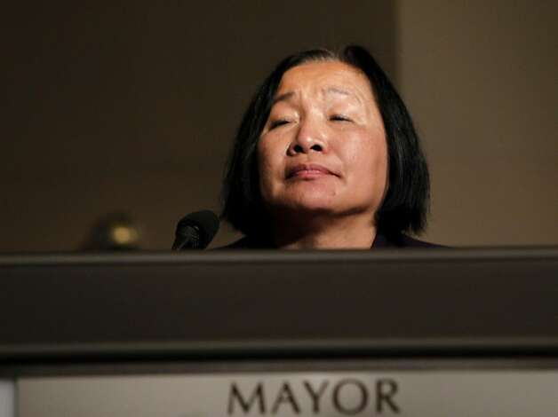 The Oakland Mayor Jean Quan listen to the peoples concerns in an open forum, Thursday Nov. 3, 2011, at a special meeting about Occupy Oakland in Oakland, Calif. Photo: Lacy Atkins, The Chronicle