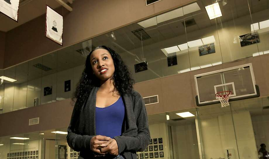 Former Stanford University basketball player, Candice Wiggins, on Wednesday Dec. 8, 2010, in Palo Alto, Calif., is back at school taking undergraduate studies outside of her professional WNBA basketball career with the Minnesota Lynx. Photo: Michael Macor, The Chronicle