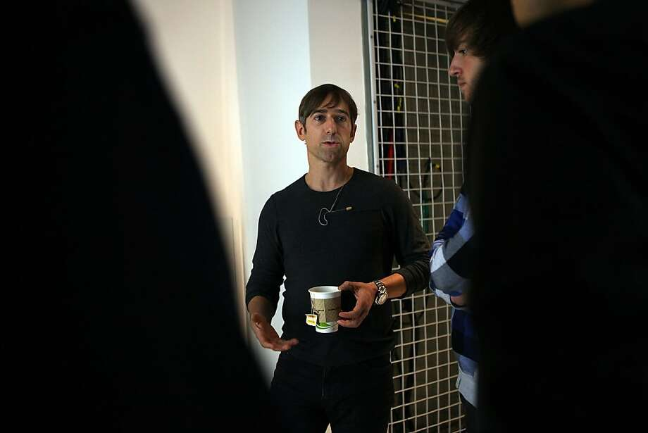 Zynga Inc. CEO and founder Marc Pincus speaking to employees after a news conference at the new Zynga offices in San Francisco,  California, on Tuesday, October 11, 2011. Photo: Liz Hafalia, The Chronicle