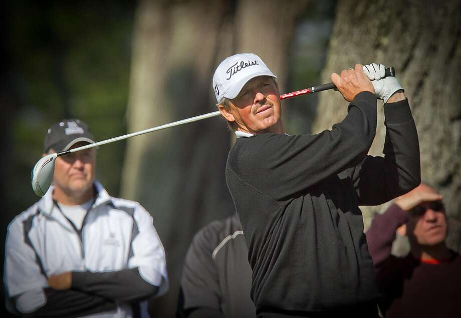 Jay Don Blake watches his tee shot at the 2nd hole during the Schwab Cup Championship final round at Harding Park Golf Course in San Francisco, Calif., on Sunday, November 6, 2011. Photo: John Storey, Special To The Chronicle