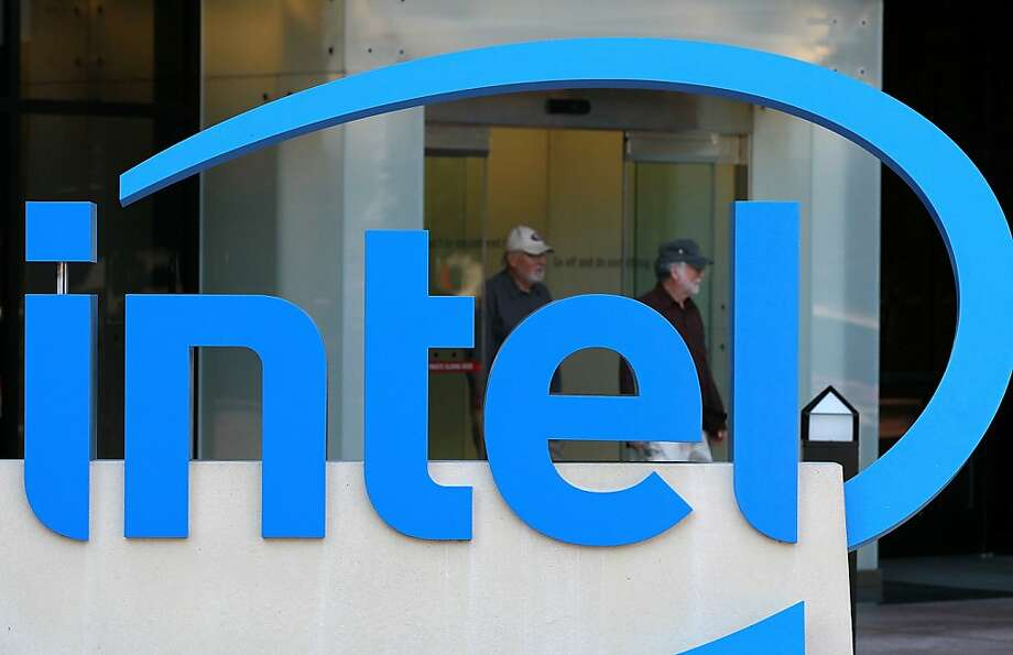 SANTA CLARA, CA - JULY 20:  A sign is posted at the Intel company headquarters on July 20, 2011 in Santa Clara, California.  Intel will report their quarterly earnings today after the market closes.  (Photo by Justin Sullivan/Getty Images)  Ran on: 07-22-2011 Sales to companies in such countries as Brazil and China are giving Intel a brighter outlook. Photo: Justin Sullivan, Getty Images