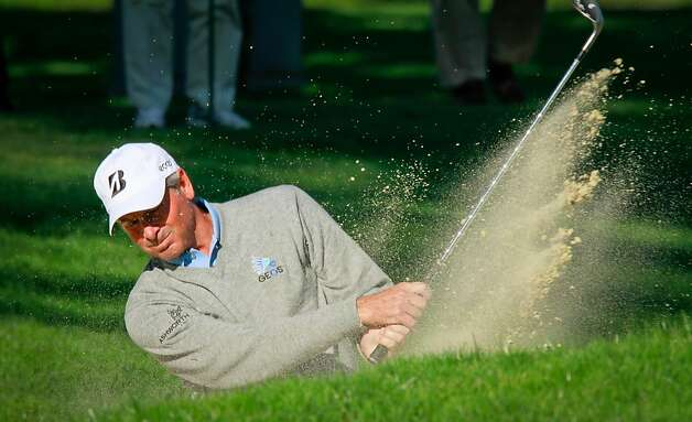 Fred Couples hits out of a sand trap at the 2nd hole during the Schwab Cup Championship Pro-Am at Harding Park Golf Course in San Francisco, Calif., on Wednesday, November 2, 2011. Photo: John Storey, Special To The Chronicle