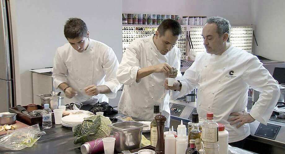 "Eduard Xatruch, Oriol Castro and Ferran Adriˆ appear in a scene from, ""El Bulli: Cooking in Progress."" Photo: Alive Mind Cinema"