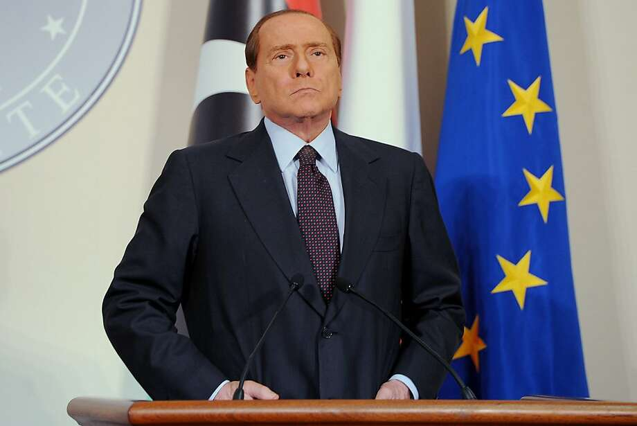 MILAN, ITALY - FILE: Italian Prime Minister Silvio Berlusconi attends the meeting at the Prefecture Palace on August 25, 2011 in Milan, Italy.  Berlusconi met today Jibril to discuss the future of Libya in the wake of the collapse of Muammar Gaddafi's regime and discuss an Italian aid plan.  (Photo by Jacopo Raule/Getty Images) Photo: Jacopo Raule, Getty Images